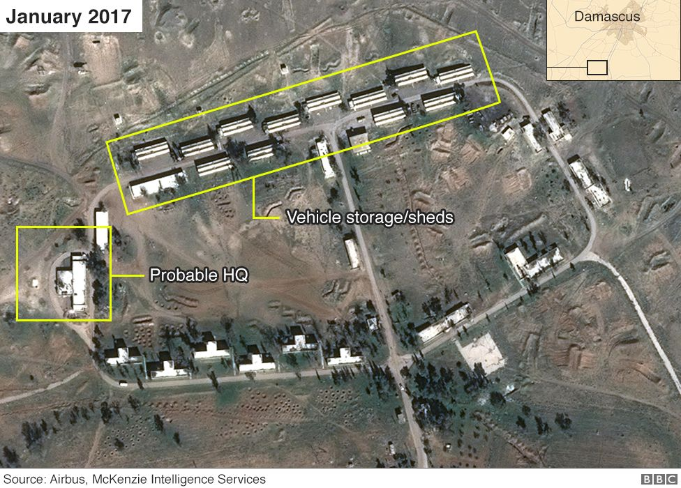 Iran Syrian base jan 2017