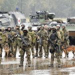 Soldiers from Germany's Bundeswehr on a training exercise. Click to enlarge