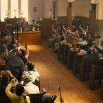 The congregation of the church worships in Kingsman: The Secret Service. Click to enlarge