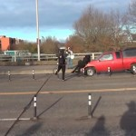 Pro-communist anticlerical protester hit by truck while opposing Christian event in Portland (VIDEO)