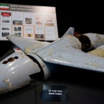 Defense officials were unable to say exactly where or when this broken-apart Qasef-1 drone was found. Click to enlarge