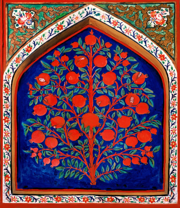 17th-century depiction of the Tree of Life in Palace of Shaki Khans, Azerbaijan. Click to enlarge