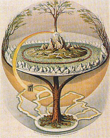 An 1847 depiction of the Norse Yggdrasil – the tree of life.
