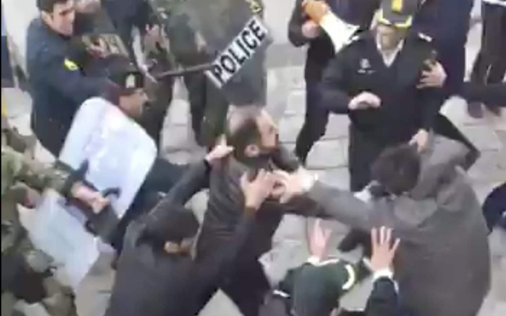 violent protests in Iran