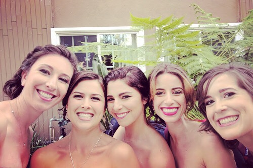 From her best friend's wedding, AZ is second from the right