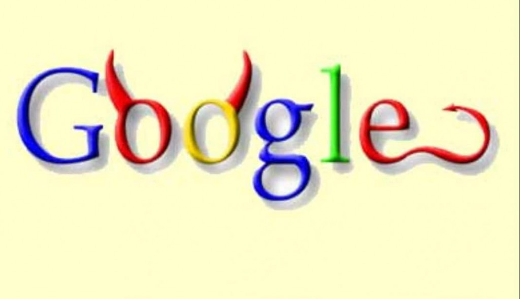 Google devil horns graphic