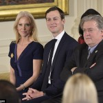 Kellyanne Conway, Jared Kushner Kushner and Steve Bannon. Click to enlarge