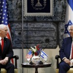 US Vice President Mike Pence and Israeli President Reuven Rivlin. Click to enlarge