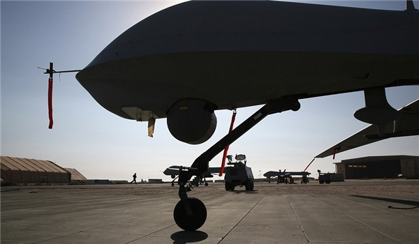 US drone on tarmac