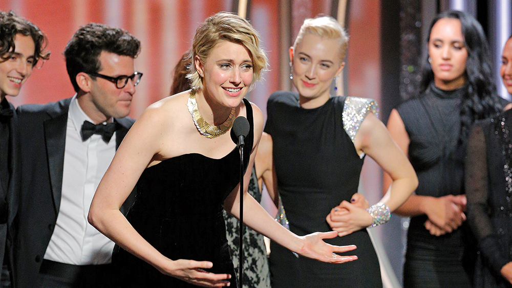 Greta Gerwig gets Golden Globe for Ladybird. Click to enlarge
