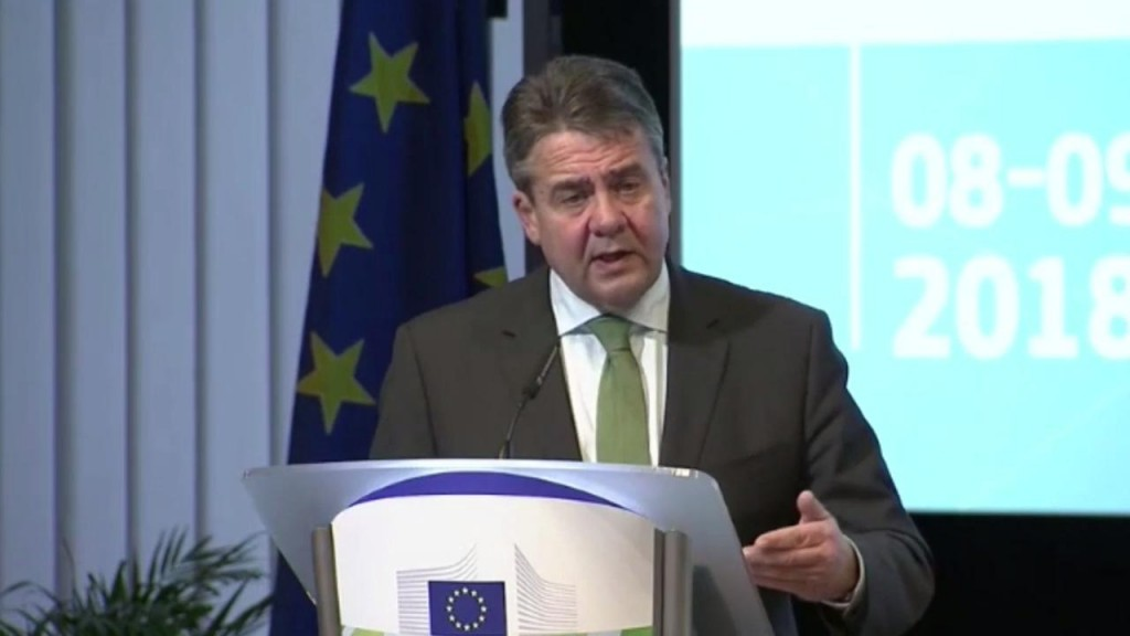 German Foreign Minister Sigmar Gabriel. Click to enlarge