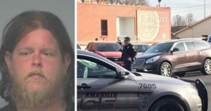 A potentially deadly mass shooting in a church of 100 people was foiled this week by a hero citizen who then became the victim of trigger-happy cops who shot the wrong man.
