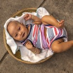 A baby ritualistcally abandoned in Saigon. Click to enlarge