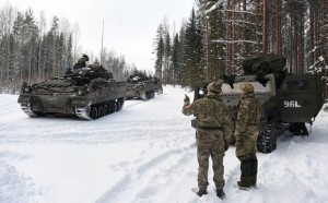 British troops in Estonia near the border with Russia. Click to enlarge