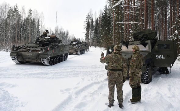British troops in Estonia. Click to enlarge