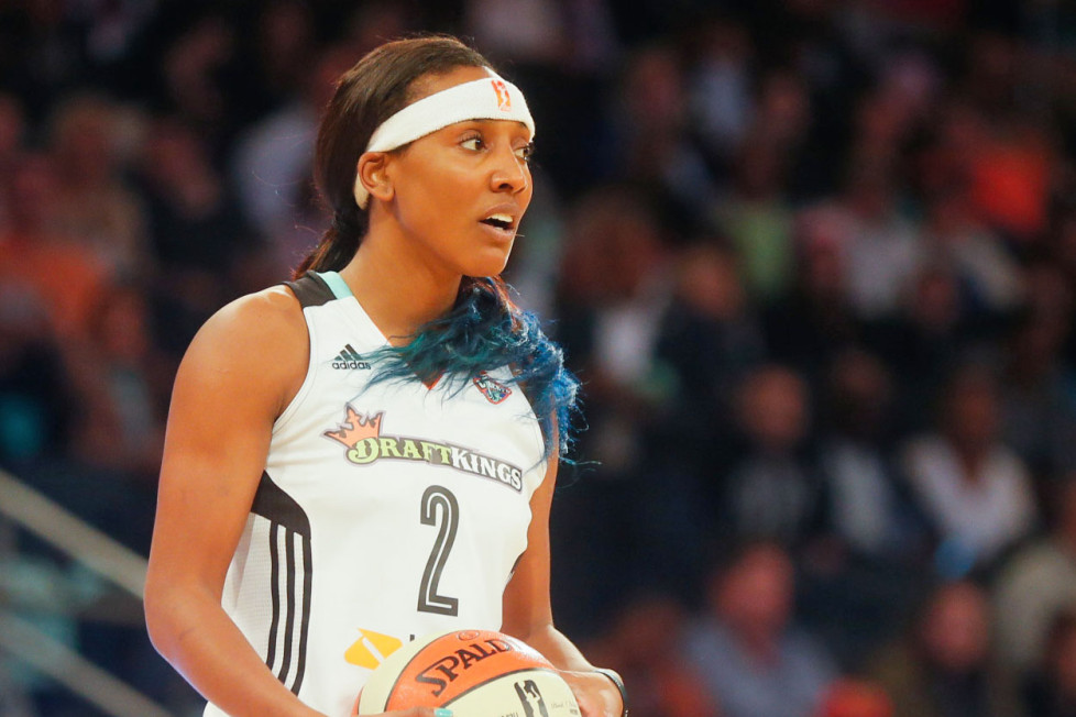Candice Wiggins with the Liberty in 2015. Click to enlarge