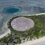 The Enewetak Atoll, a concrete dome, holding the radioactive waste of 43 nuclear explosions is leaking into the ocean, veterans have warned. Click to enlarge