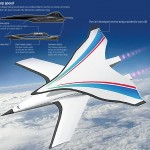 Artist's concept of the hypersonic Chinese passenger jet. Click to enlarge