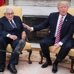 henry Kissinger and President Trump pictuerd in the Oval Office, May 2017. Click to enlarge
