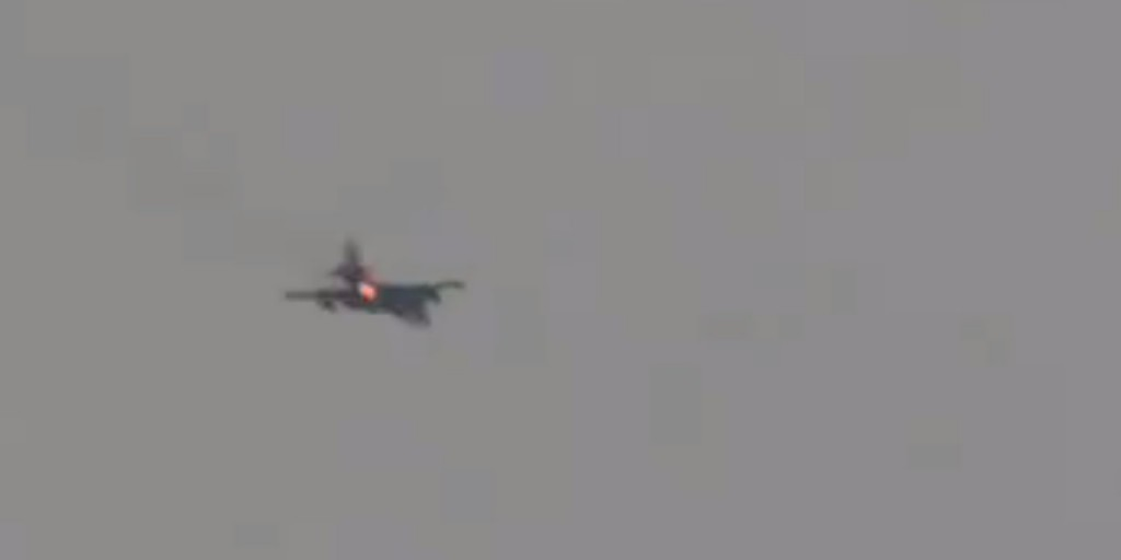 Russian SU-25 shot down over Idlib province, Syria. Click to enlarge