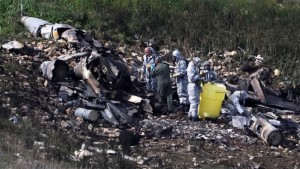 Wreckage of downed Israeli F-16. Click to enlarge