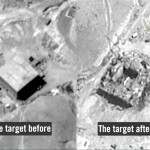 Before and after image of suspected Syrian nuclear reactor near Deir ezZor targted by Israel warplanes. Click to enlarge