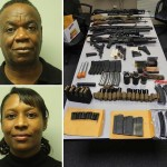 Francho Bradley (above) and Adrianne Jennings, along with a photo of the weapons. Click to enlarge