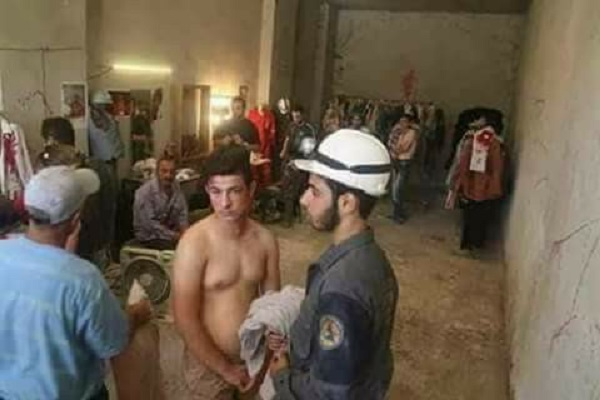 The Syrian White Helmets rehearse another staged 'chemical weapons attack'. Click to enlarge