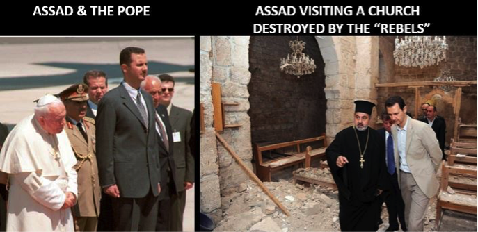 Assad and the pope