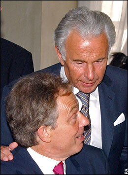 Lord Levy, otherwise known as Lord Cashpoint, and Tony Blair