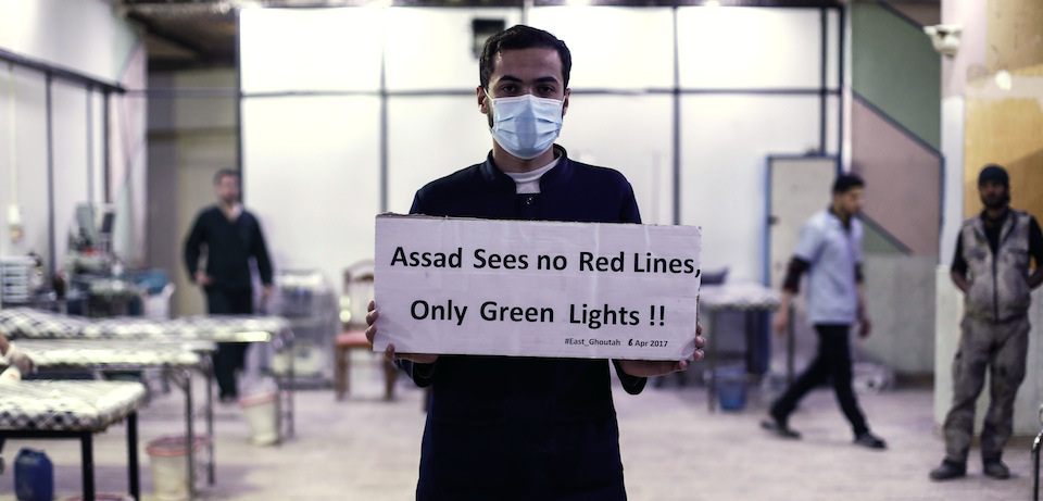 More stage managed propaganda that is being used to pave the way for more Western airstrikes in Syria. This one purportedly from medical staff in a Syrian hospital that treats chemical weapons victims. Click to enlarge