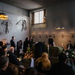 Mourners at the funeral of Daniel Cuevas Zuniga in Stockholm in mid-February. Mr. Zuniga died when he picked up a hand grenade left on a sidewalk not far from his home. Click to enlarge