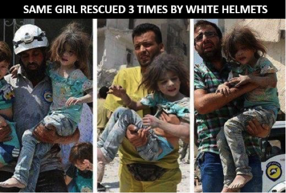 Same girl rescued 3 times by the white helmets