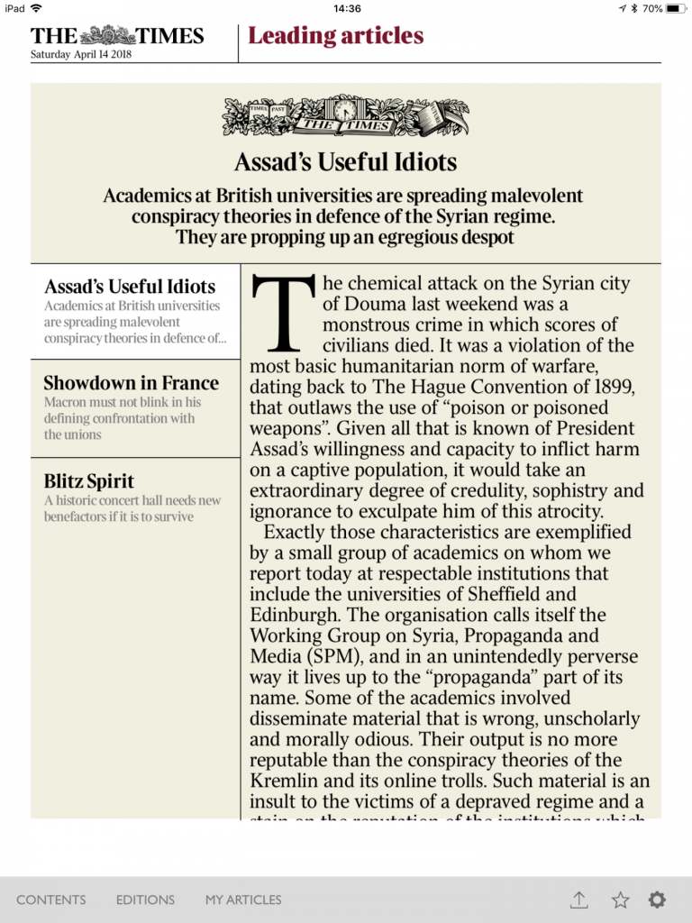 Times article on 'useful idiots'. Click to enlarge