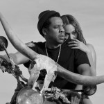 Another promo pic. Jay and Bey riding with a huge horned skull upfront. Yup, Baphomet is their guide. Apparently, this pic is inspired by a classic African movie. However, there's a reason why this specific scene was selected. Click to enlarge