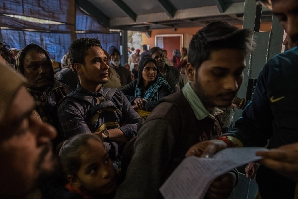 """India has collected biometric data on most of its 1.3 billion residents, to be used in a nationwide identity system called Aadhaar, meaning """"foundation."""" Click to enlarge"""