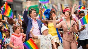 Prime Minister Castro and wife at Toronto Gay Pride Parade 2017