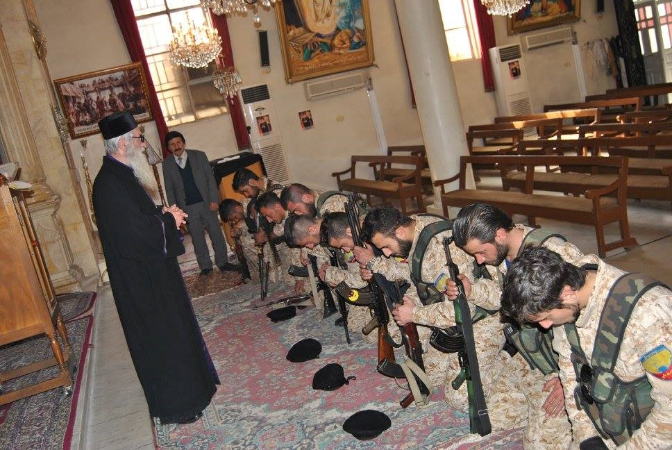 syrian-Christian soldiers-in-church
