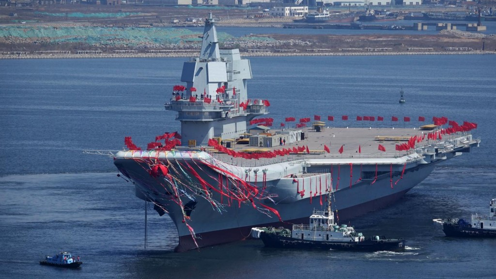 Type 001a, Chinese-aircraft carrier. Click to enlarge