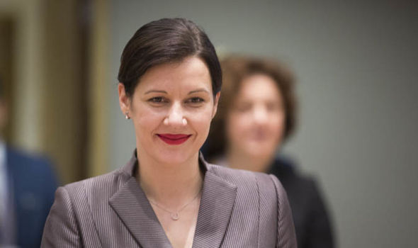 Dana Reizniece-Ozla, Latvian finance minister. Click to enlarge