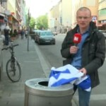 Israeli Flags Hung in Major German Cities Are Taken Down and Thrown Away