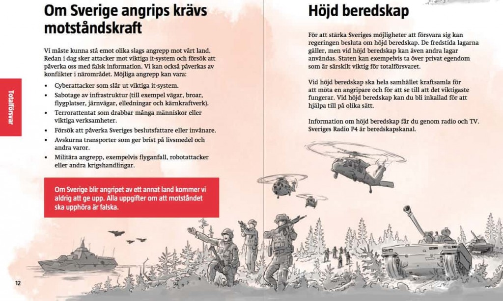 Swedish be prepared for war pamphlet. Click to enlarge