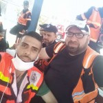 Musa Abuhassanin, right, was a first responder in Gaza who was shot in the chest and killed. Moumin Hmaid, left, is a paramedic who took a bullet to the right ankle. (Submitted by Tarek Loubani) Click to enlarge