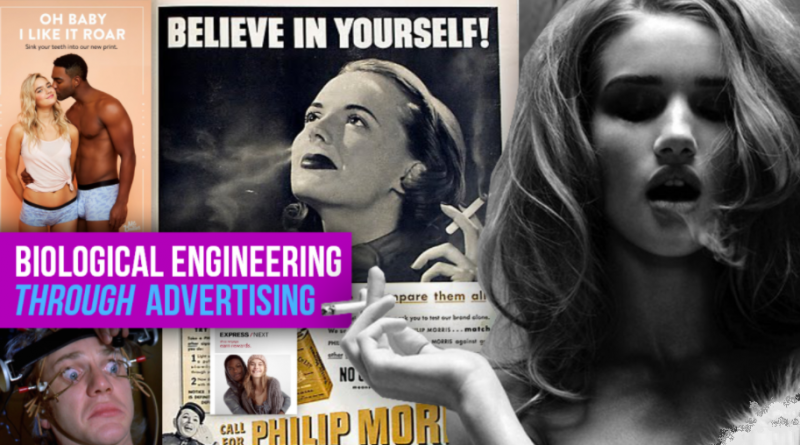 Biological engineering through advertising
