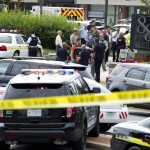 Scene of the shooting at the Capital Gazette office in Maryland. Click to enlarge