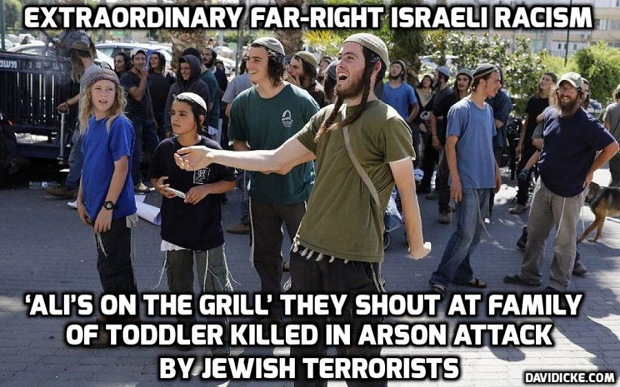 Jewish Extremists celebrate toddlers death