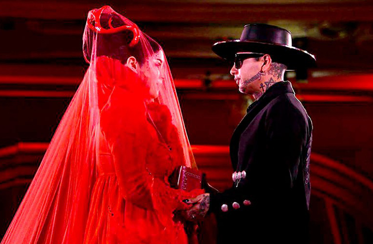 Kat von d wedding occult ritual