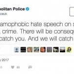 British police have claimed that the above tweet is a fake. However, the police authorities credibility is so low among many ordinary Britons that many will wonder if that claim isn't a damage limitation exercise. click to enlarge