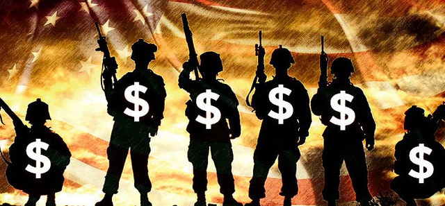 military backing US dollar