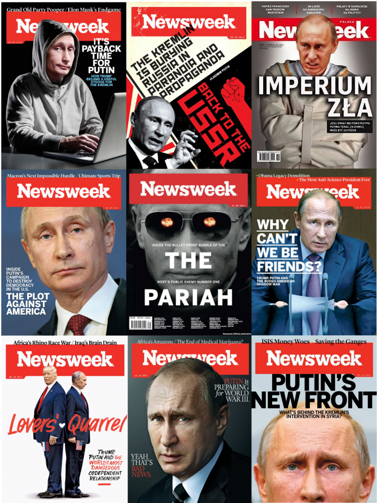 Newsweek covers. Click to enlarge